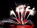 Fractalius image of fireworks