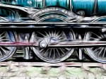 Fractalius image of a steam train