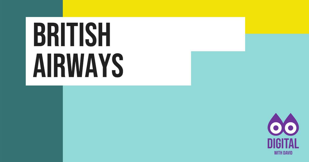 David Hodder - British Airways Banner