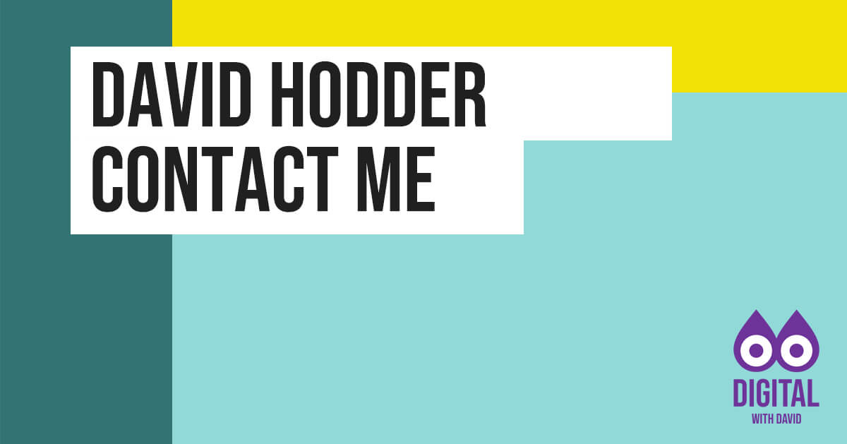 David Hodder - Contact Me Banner