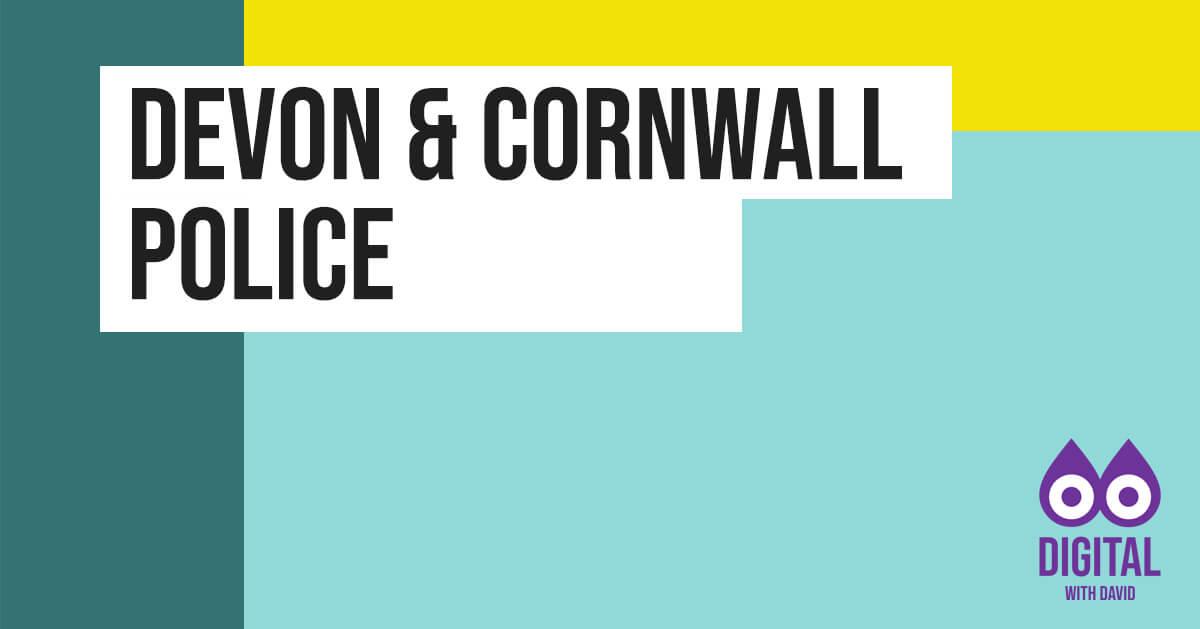 David Hodder - Devon and Cornwall Police Banner