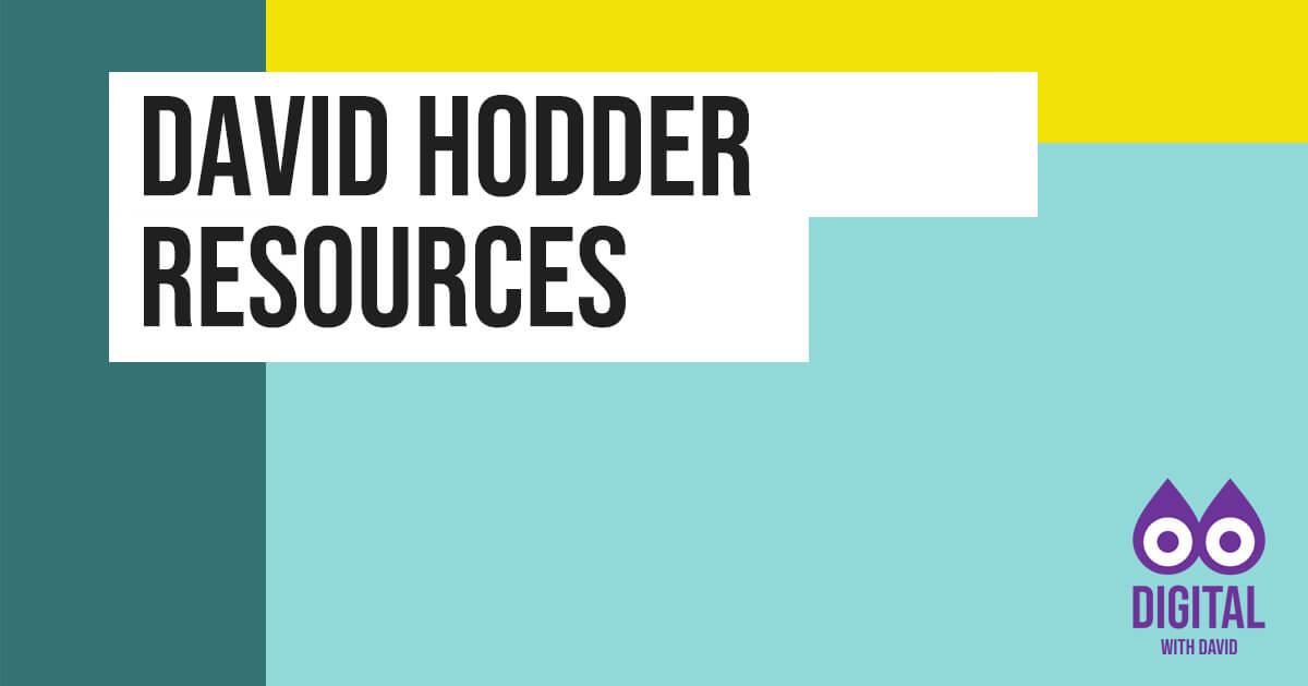 David Hodder - Free Resources Banner