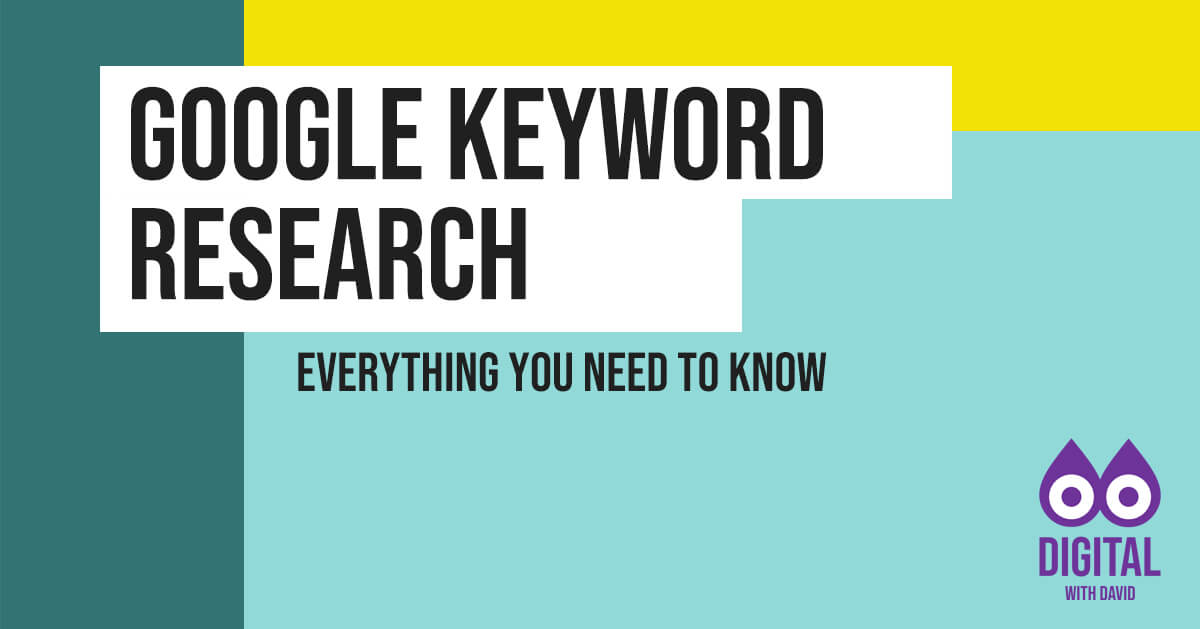 David Hodder - Keyword Research Banner