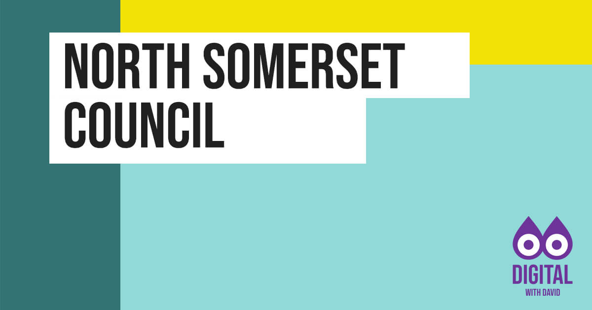 David Hodder - North Somerset Council Banner