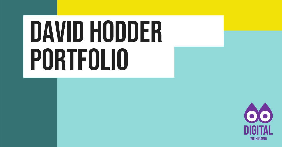 David Hodder Portfolio Banner