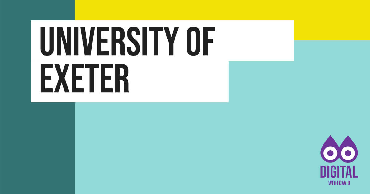 David Hodder - University of Exeter Banner