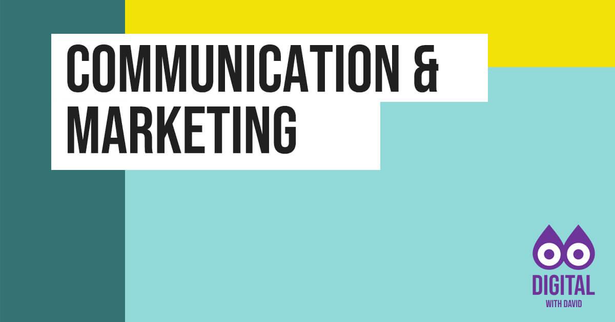 David Hodder - Communication and Marketing Banner