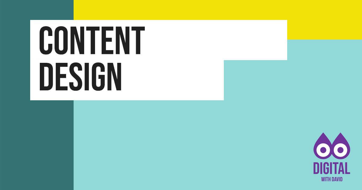 David Hodder - Content Design Banner