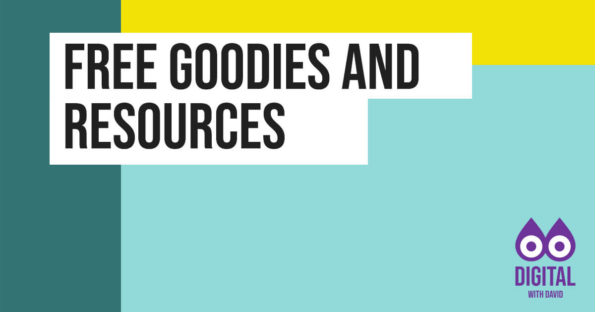 David Hodder - Free Goodies and Resources Banner