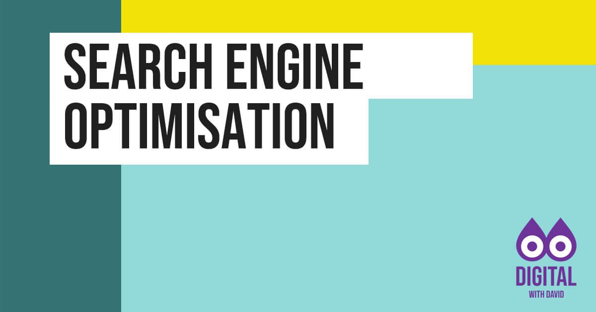 David Hodder - Search Engine Optimisation Banner