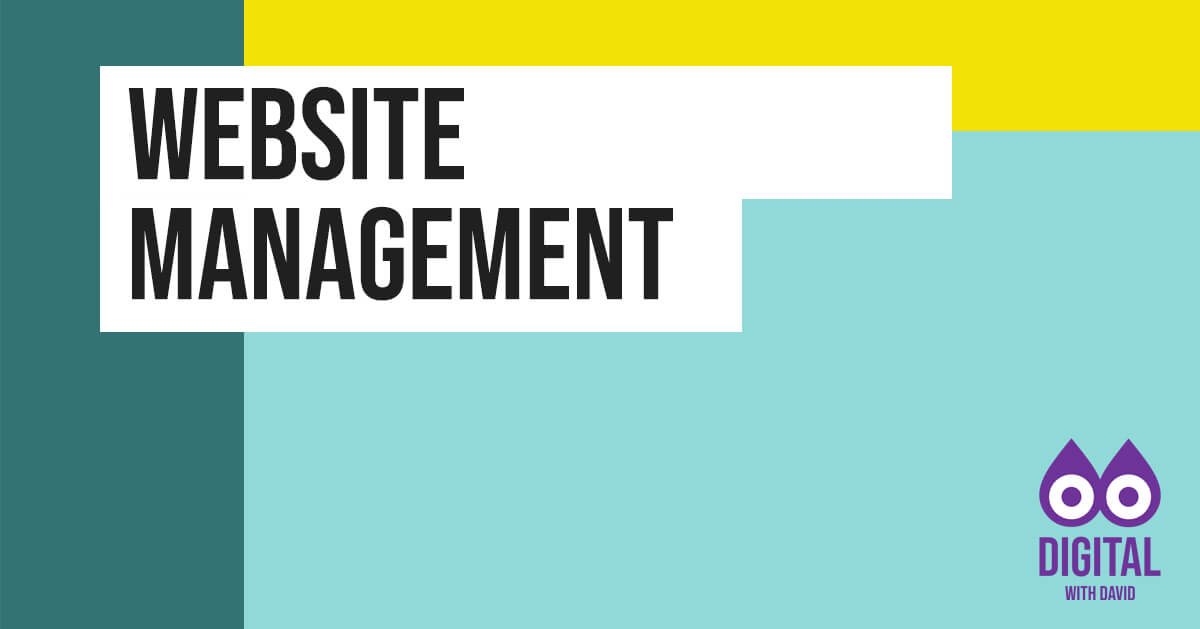 David Hodder - Website Management Banner