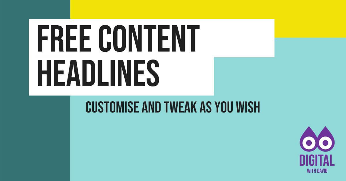 David Hodder - Free Content Headlines Banner