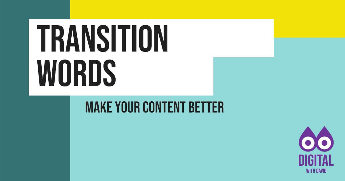 David Hodder - Types Of Transition Words Banner