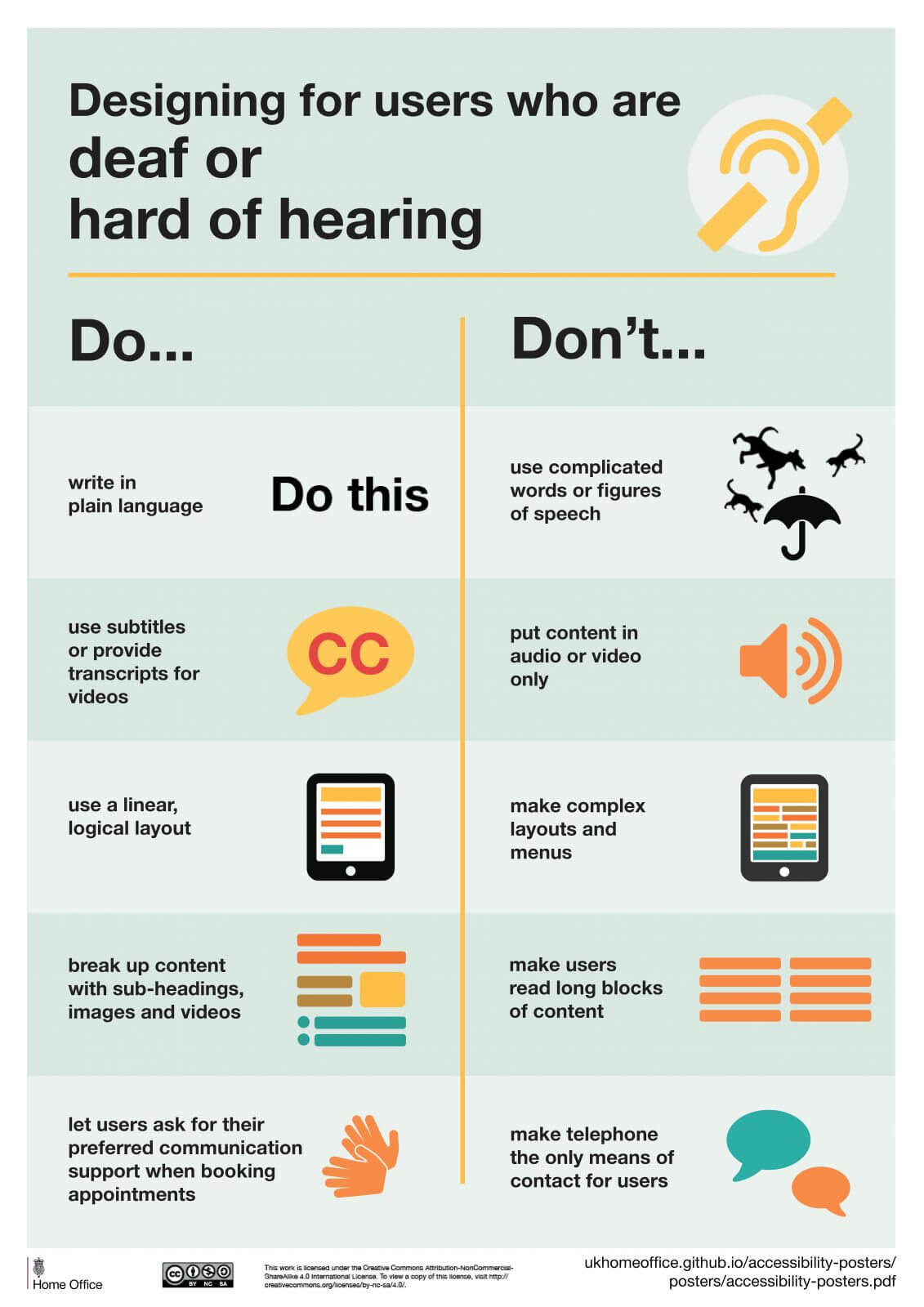 GOV.UK Designing For Users Who Are Deaf