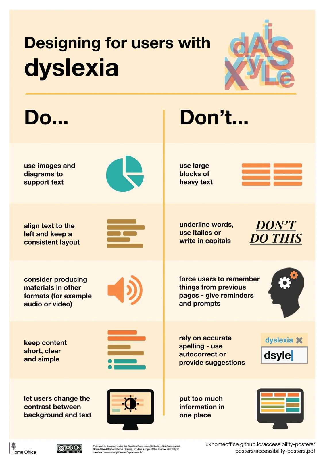 GOV.UK Designing For Users With Dyslexia