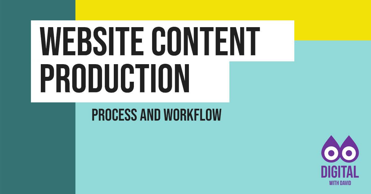 David Hodder - Website Content Production Process Banner