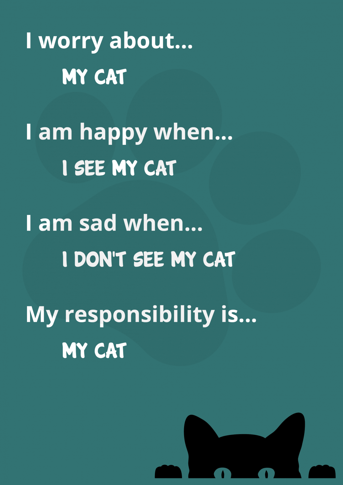 David Hodder - I Worry About My Cat Poster